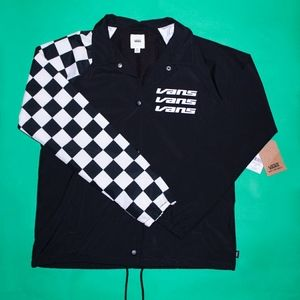 Vans Windbreaker Black and White Size XS Women's
